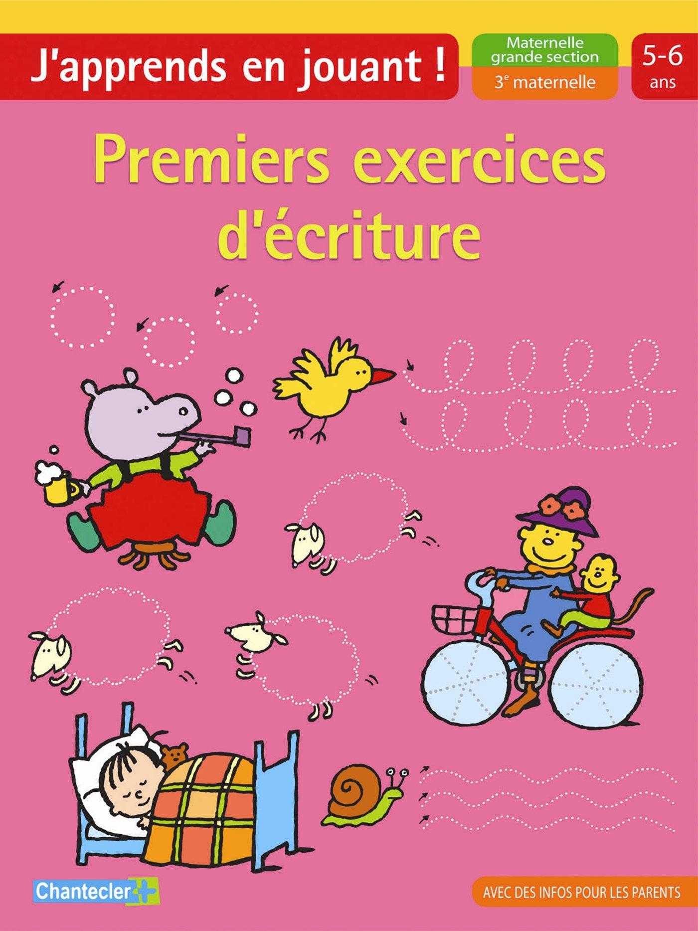 Amazon Fr Premiers Exercices D Ecriture Maternelle Grande Section Znu Livres