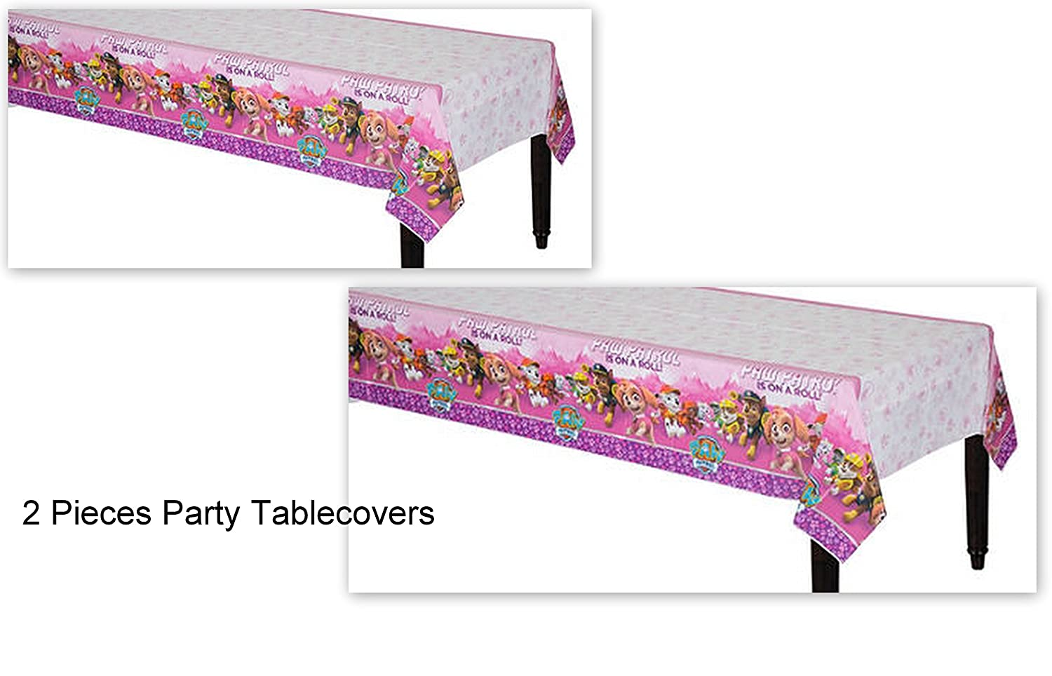 Paw Patrol Skye Girl Dog Girl Pink Decoration Party Tablecover Tablecloth Birthday - 2 PIECES Amscan