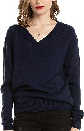 Woolen Bloom Jersey Punto Mujer Básico V Cuello Camisas Manga Larga Chaqueta de Punto Sueter Mujer Jerseys Primavera Verano Otoño Suéter: Amazon.es: Ropa y accesorios