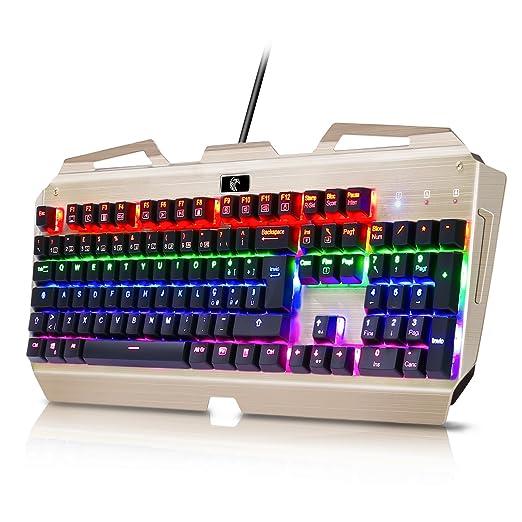 7 opinioni per [LAYOUT ITALIANO]Tastiera Meccanica Gaming KingTop 104 Tasti Meccanici Blu 100%