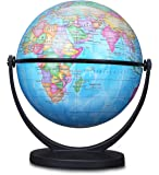 World Globe, Desktop World Globe Office Globe Perfect for Educational Geographic Learning Kids Toy (4in)