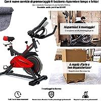 Sportstech SX100 Cyclette Professionale con volano di 13KG, braccioli Imbottiti, Speedbike con Sistema a Basso Rumore - Bicicletta con ergometro Fino a 120 kg