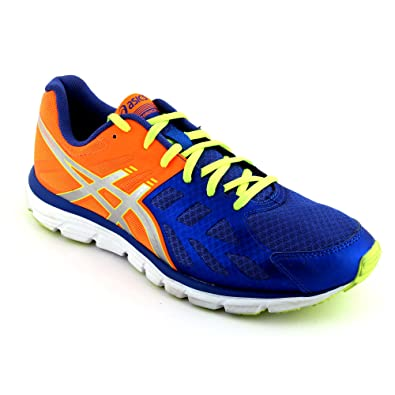 ba163378d6 Asics Men's Gel-Zaraca 3 Blue, Silver & Flash Yellow Running Shoes US 12:  Buy Online at Low Prices in India - Amazon.in