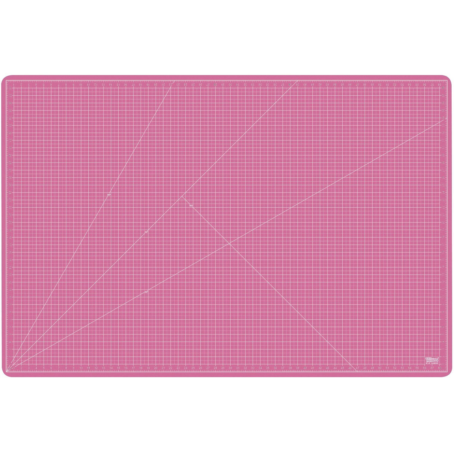 US Art Supply 40'' x 60'' PINK/BLUE Professional Self Healing 5-Ply Double Sided Durable Non-Slip PVC Cutting Mat Great for Scrapbooking, Quilting, Sewing and all Arts & Crafts Projects (Choose Green/Black or Pink/Blue Below)