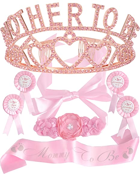 Amazon.com: Tiara con forma de corazón rosa + cinturón para ...