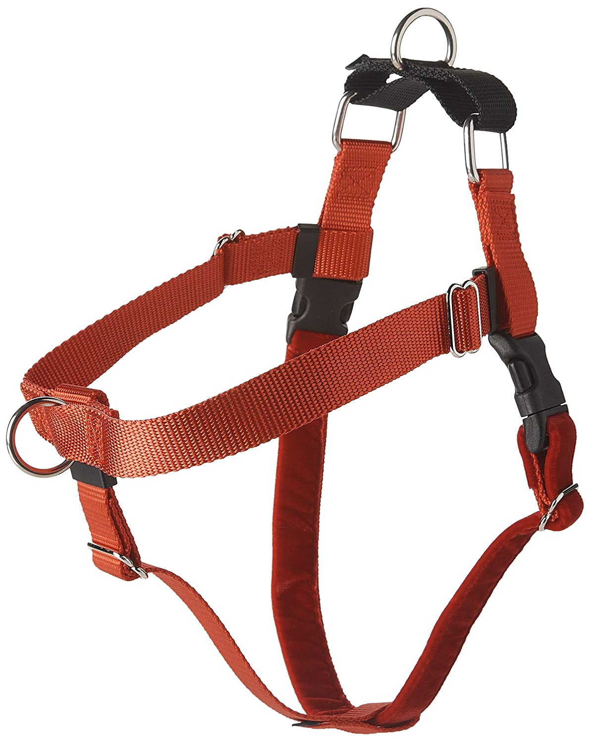 Red Large2 Hounds Design Freedom NoPull Dog Harness Training Package with Leash, Royal bluee, Large (1Inch Wide)