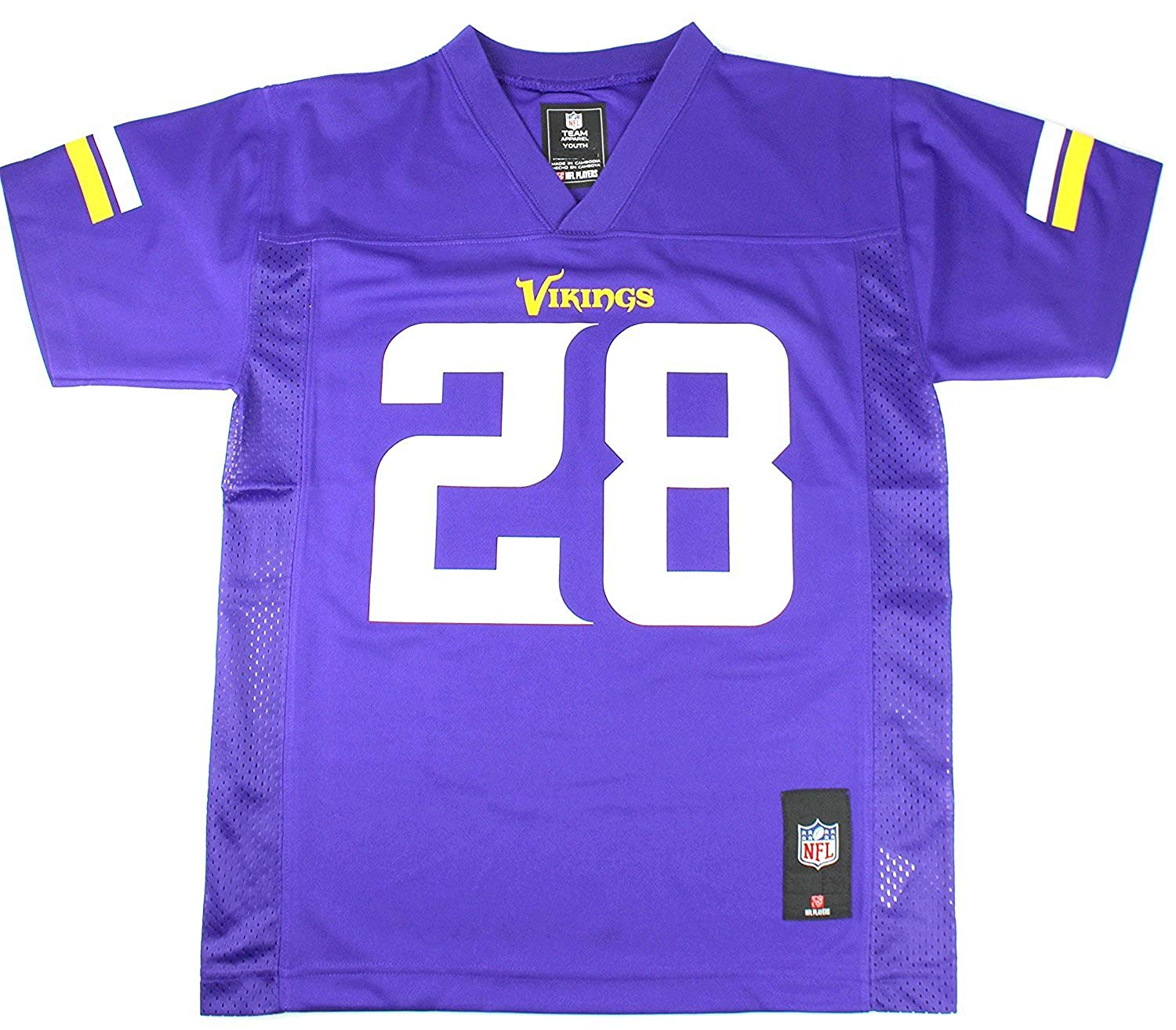 low priced 6ed93 1ed8a Outerstuff Adrian Peterson Minnesota Vikings Youth Purple Jersey Large 14/16