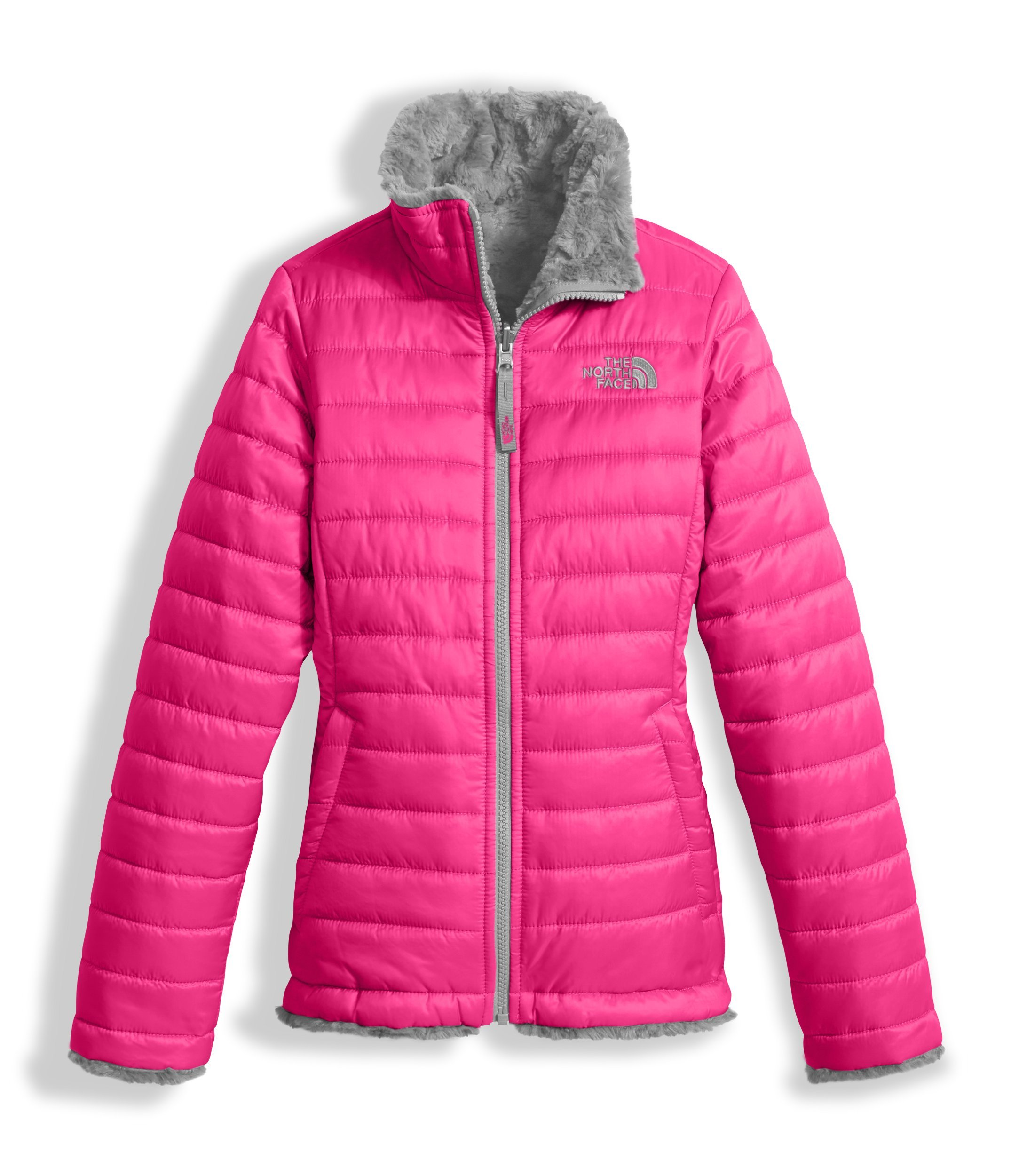 The North Face Girl's Reversible Mossbud Swirl Jacket - Petticoat Pink - S (Past Season) by The North Face