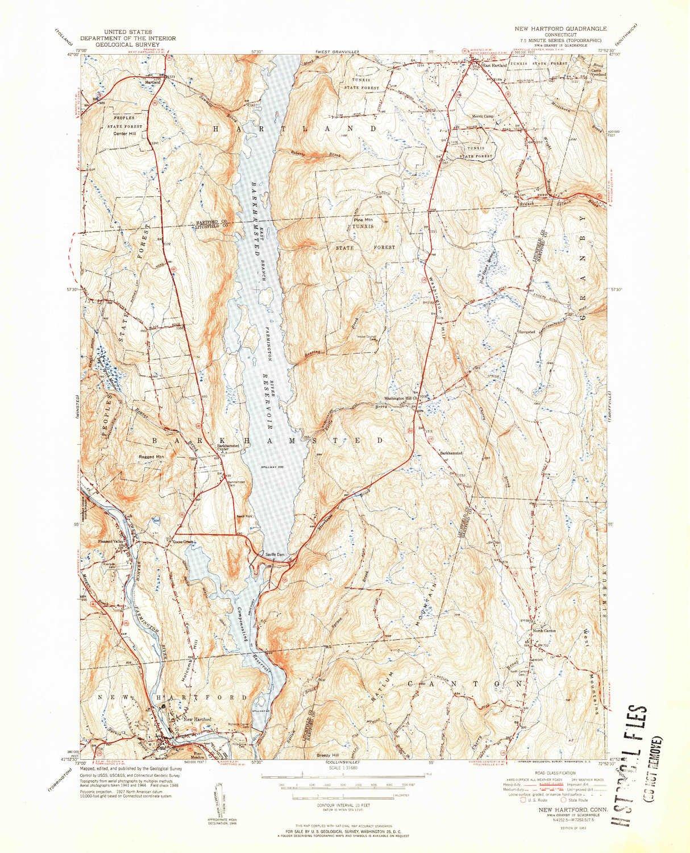 Amazon.com: YellowMaps New Hartford CT topo map, 1:31680 ...