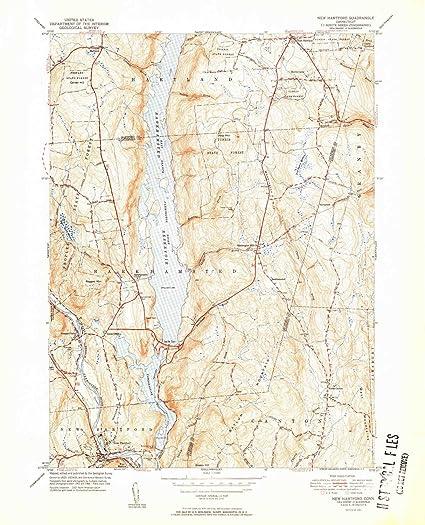 Amazon.com: YellowMaps New Hartford CT topo map, 1:31680 Scale, 7.5 ...