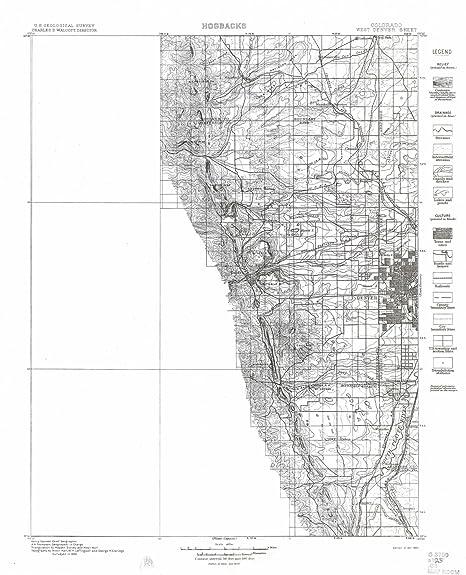 Amazon Com Yellowmaps West Denver Co Topo Map 1 125000 Scale 30 X