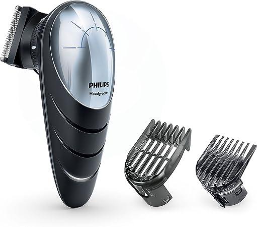Philips Headgroom QC5570/13 cortadora de pelo y maquinilla Negro, Plata Recargable - Afeitadora (Negro, Plata, 0,5 mm, 1,5 cm, 4,1 cm, Acero inoxidable, 60 min): Amazon.es: Hogar