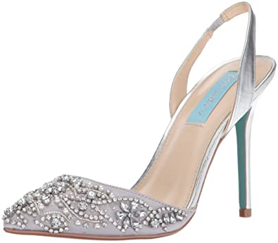 bbc80413807 Blue by Betsey Johnson Women s Sb-Sonia Dress Pump Silver Metallic 6.5 ...