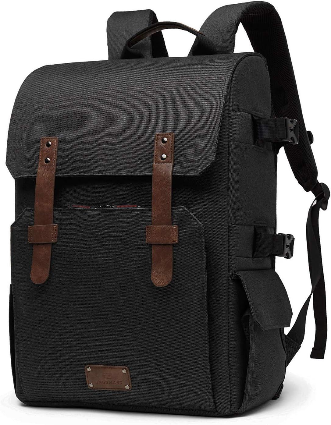 BAGSMART Chic Camera Backpack SLRDSLR Camera Bag for 70 200mm Lens & 15