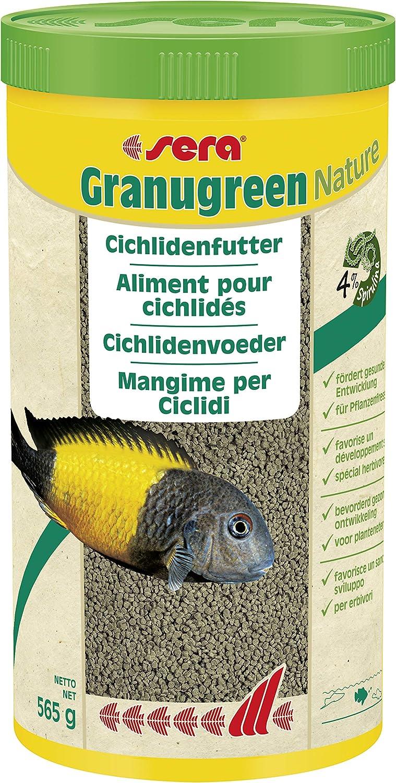 Sera granu Green, lastre STO ffreiche granulado para Plantas Fress Extremo cichliden, 1er Pack