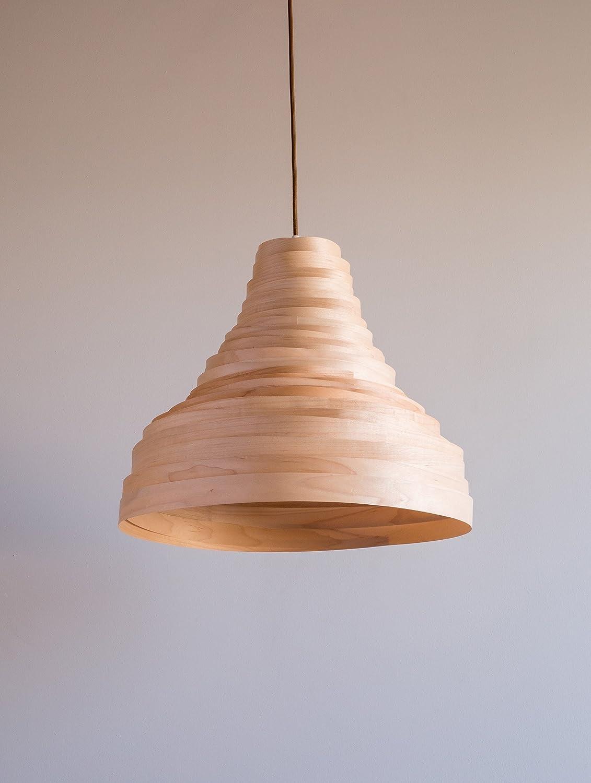 Amazon Com Maple Wood Veneer Bell Shaped Lamp Shade