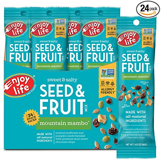 Seed and fruit trail mix