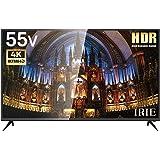 IRIE アイリー 55V型 4K 対応テレビ HDR フルハイビジョン 液晶テレビ HDD録画対応 裏番組録画 留守録機能 ブラック MARSHAL MAL-FWTV55