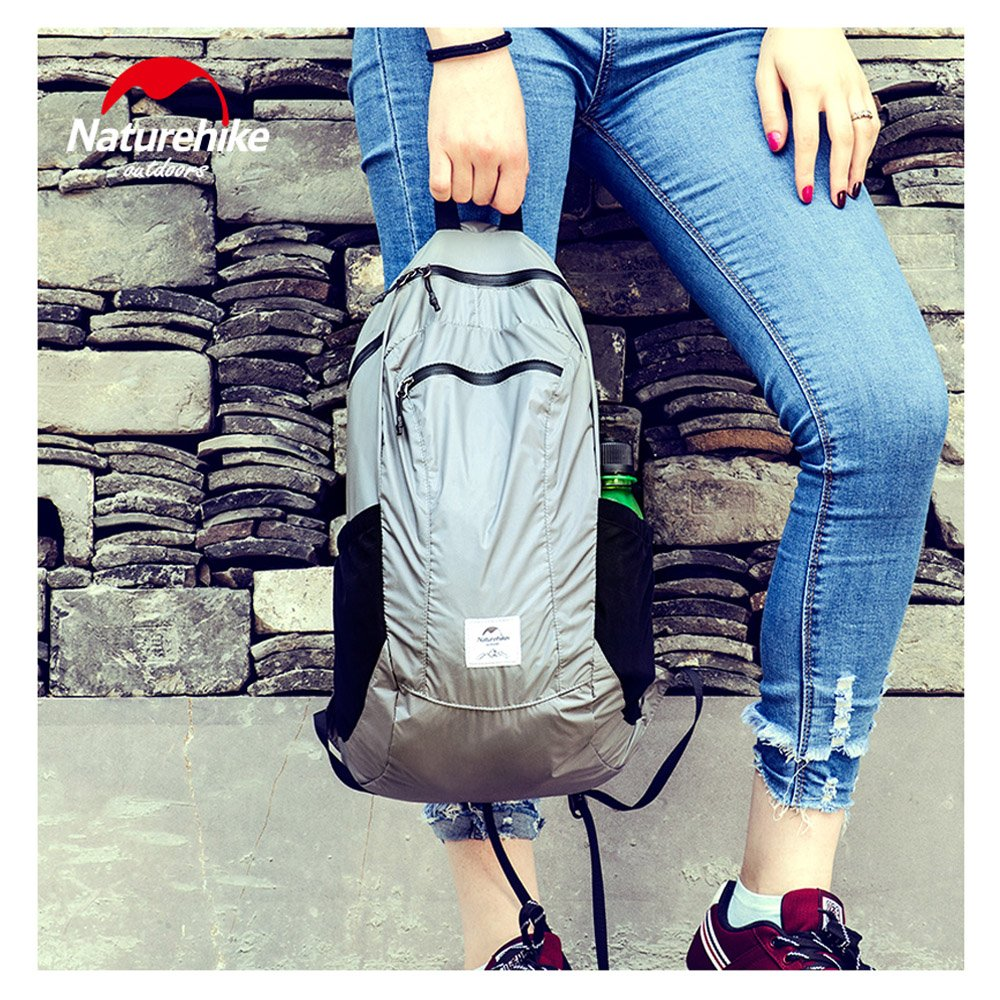 Unisex 18L Ultra Lightweight Foldable Backpack Waterproof Backpack Packable Casual Daypack for Travel Hiking Sports Cycling(Gray) by 店名 (Image #8)