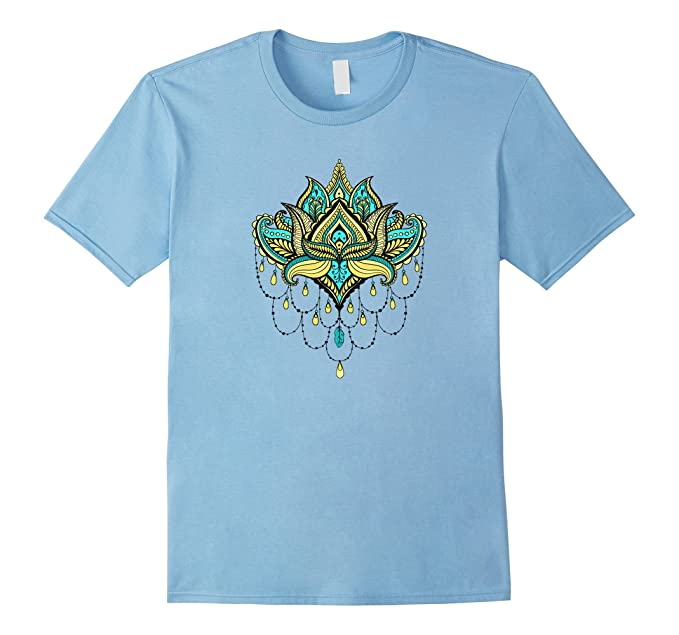 Amazon lotus flower t shirt spiritual buddhist symbol clothing mens lotus flower t shirt spiritual buddhist symbol 3xl baby blue mightylinksfo