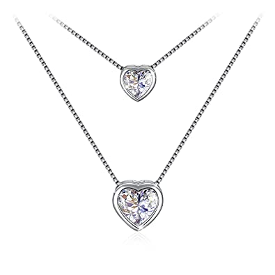 Layered necklace valentines day gift with exquisite package 925 layered necklace valentines day gift with exquisite package 925 sterling silver pendant necklace with 5a aloadofball Images