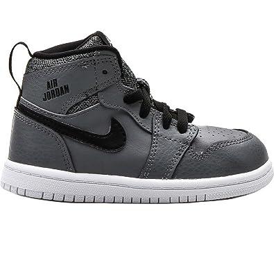 6dca07a89ff66 Amazon.com: Jordan kids Jordan 1 Retro High BT Cool Grey/Black/White ...