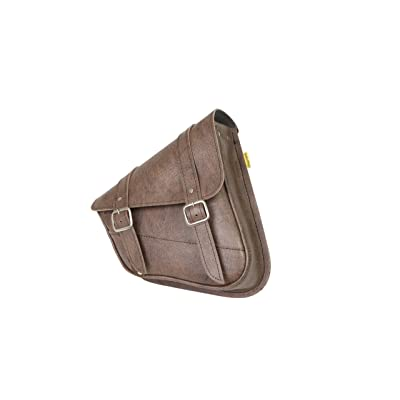 Dowco Willie & Max 59779-00 Synthetic Leather Swingarm Bag: Brown, Fits Dual Shock Bikes/Sportster/Yamaha Bolt, 9 Liter Capacity,: Automotive [5Bkhe0804500]