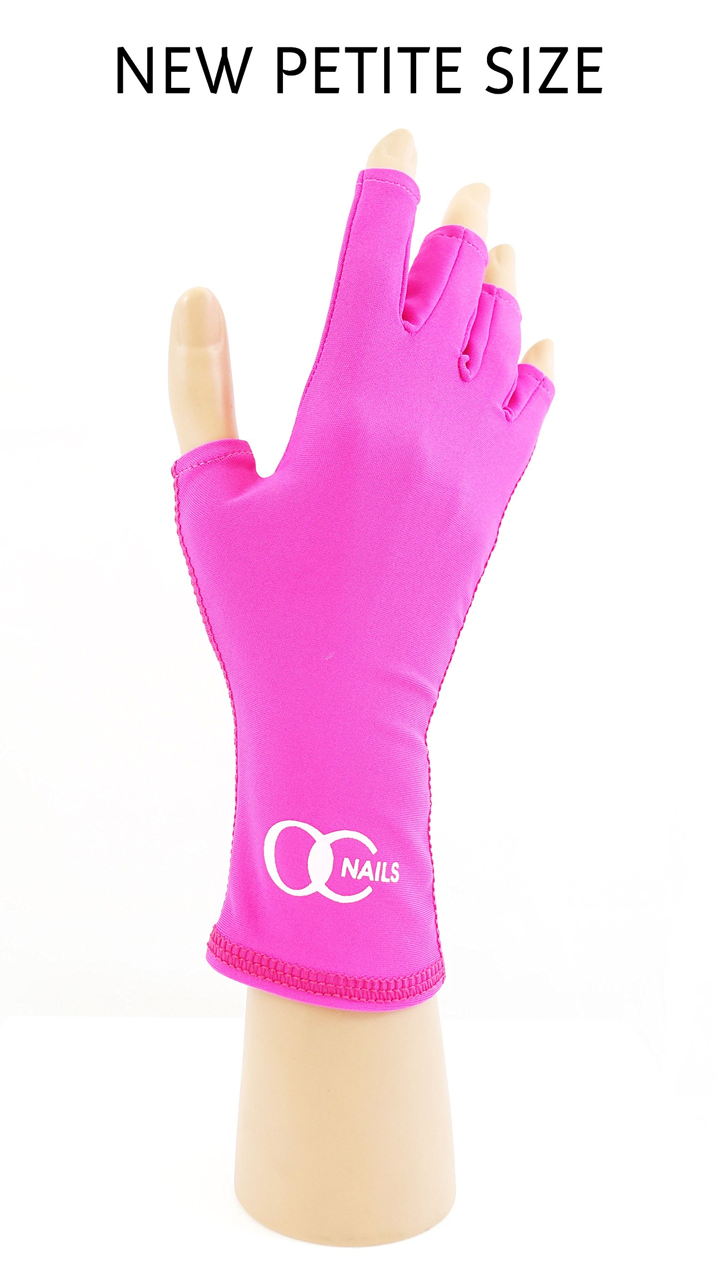 Amazon.com: OC Nails UV Shield Glove (HOT PINK) Anti UV Glove for ...
