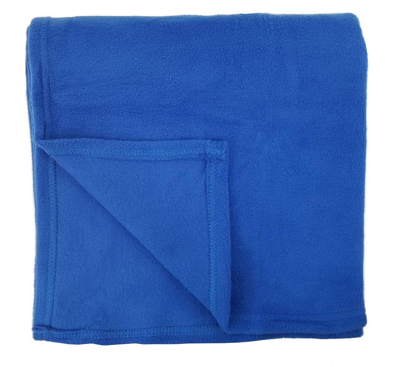 Rollee Pollee Children's Nap Blanket, Super Soft Anti-Pill Fleece Blanket Toddlers Kids, 36'' x 48'' (Blue)
