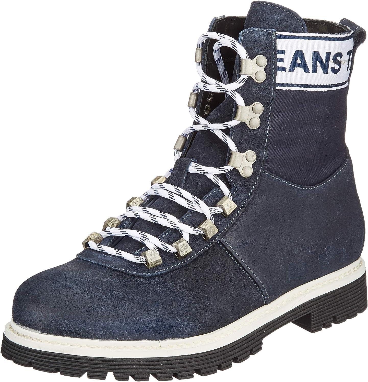 Tommy Jeans Canvas Suede Boot, Botas Militar para Hombre