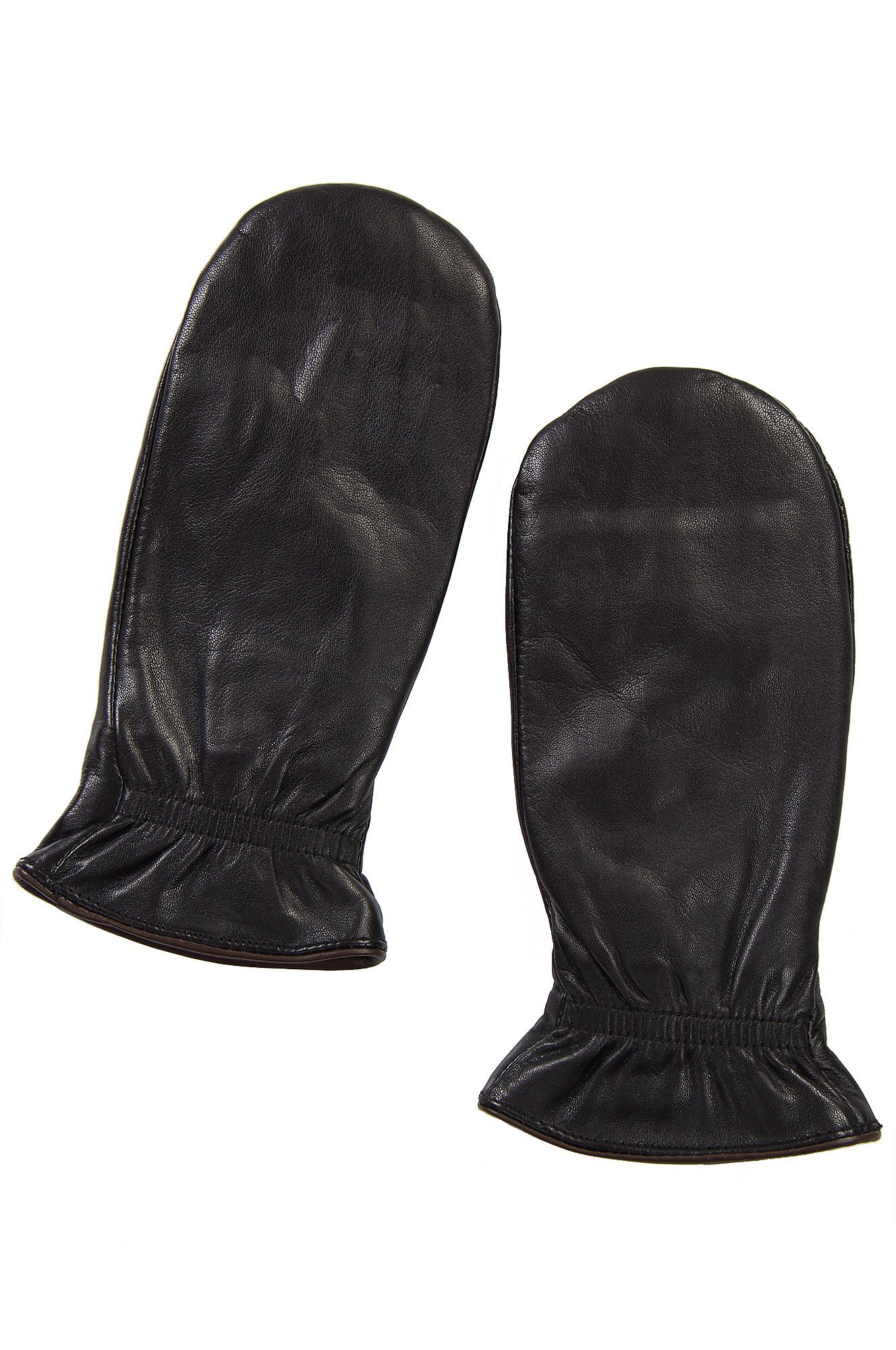 Women's Snowdrop Finger-Lined Lambskin Leather Mittens by Overland Sheepskin Co