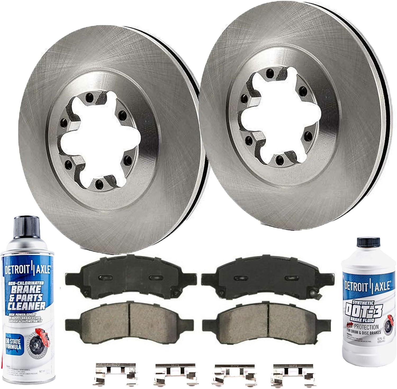 Front Ceramic Pads Brake Hardwear Kit For 2009-2012 Chevrolet Colorado Premium
