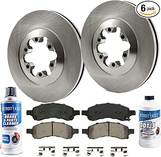 Pair Set 2 Front Stoptech Slotted Disc Brake Rotors for Chevy Colorado GMC Isuzu