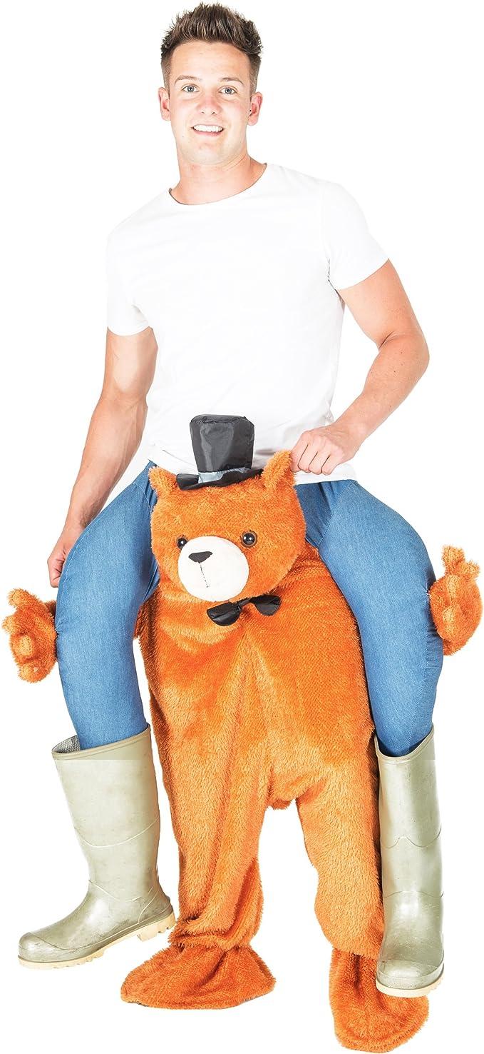 Bodysocks® Disfraz a Hombros (Carry Me) de Oso para Adulto: Amazon ...