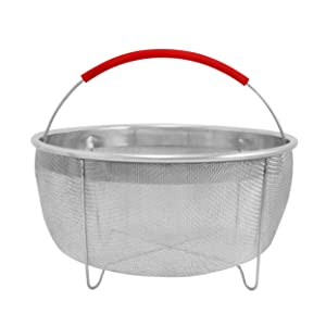 """ExcelSteel 330 Rinse Drain Sift Sieve Kitchenware Perfect for Pressure Cookers Strainer Basket Insert 8.25"""" Stainless Steel"""