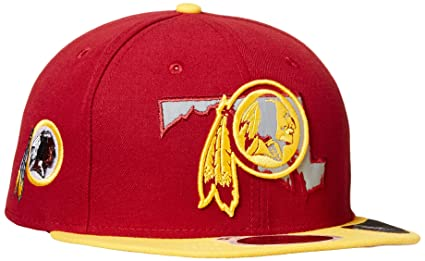 huge selection of e384d b1a4a NFL Washington Redskins Men s New Era State Flective Redux 59FIFTY Fitted  Cap, Red, 7