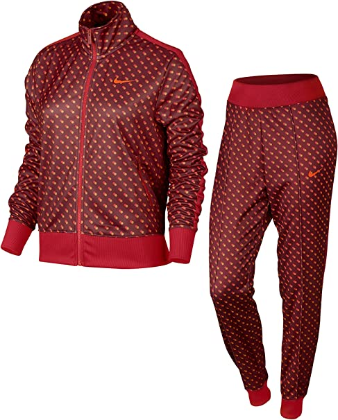 Nike Printed Cuffed Chándal, Mujer, Rojo/Naranja (Team Red ...