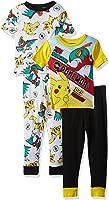 Pokémon Boys' Pikachu 4-Piece Cotton Pajama Set