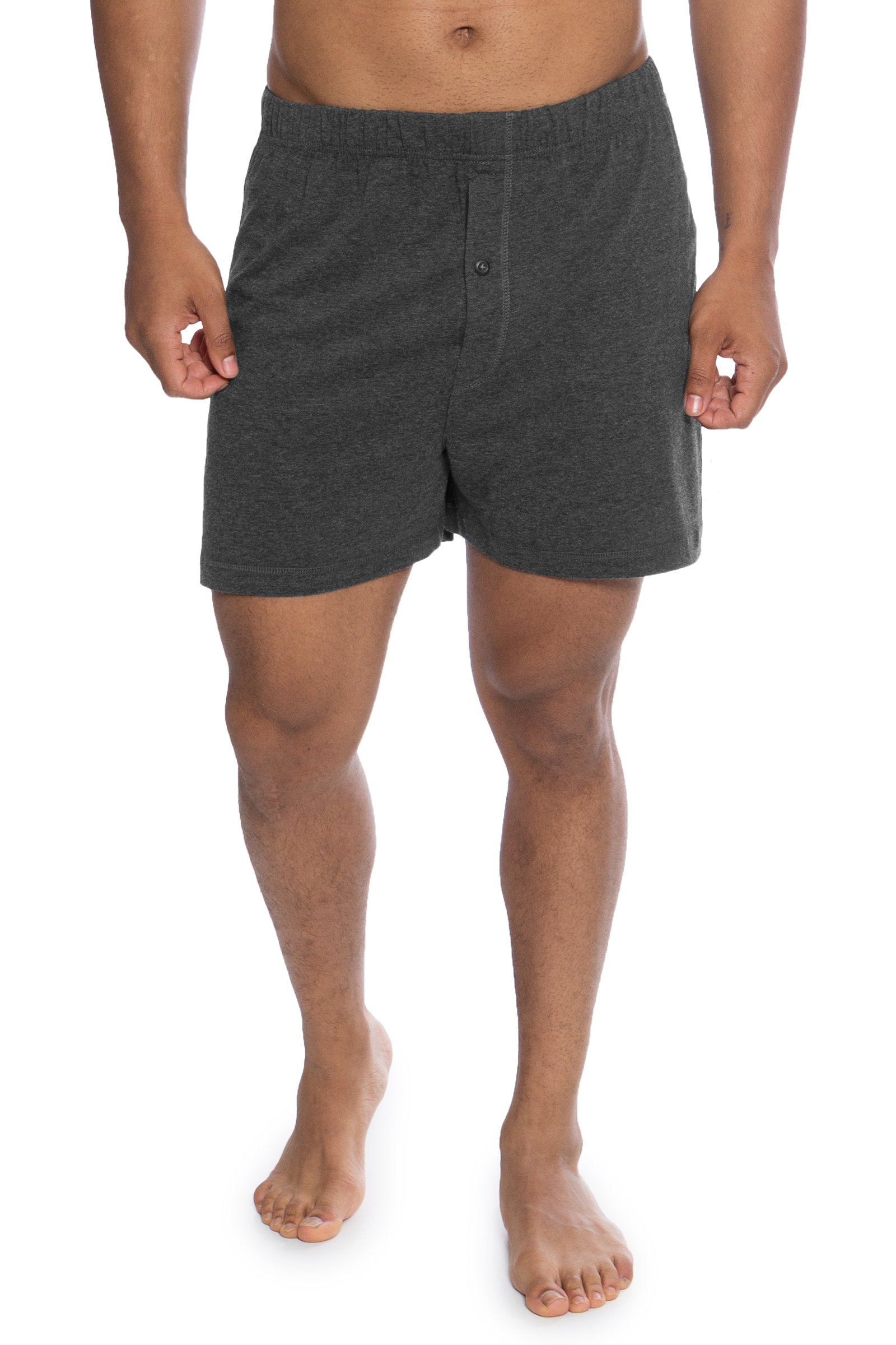 Men's Boxer Shorts - Single Pack Bamboo Viscose Underwear by Texere (Sancus, Heather Gray, Medium) Great Gifts for Husband Boyfriend Fiance MB6104-2G3-M