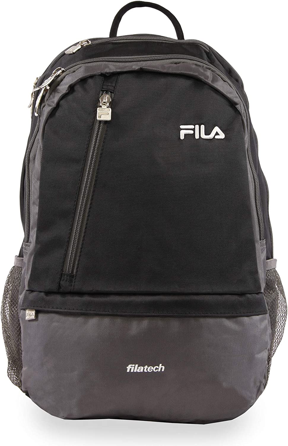 Fila Duel School Laptop Computer Tablet Book Bag, Black, One Size