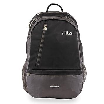 ba931f5807e Amazon.com: Fila Duel School Laptop Computer Tablet Book Bag Backpack,  Black, One Size