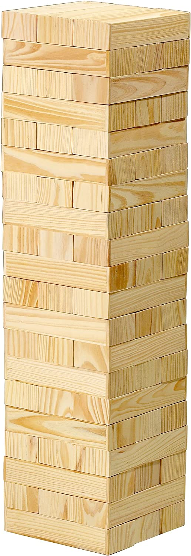 Geschicklichkeitsspiel 54 Teile aus Holz 54 x 15 x 15 cm Mega XXXL Wackelturm