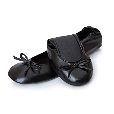Cinderollies Foldable Ballet Flats - Womens Rollable Travel Flat Comfort Shoes with Pouch | Flats