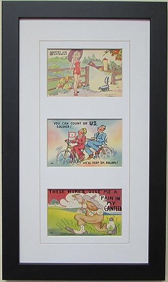 postcard frame for three 3 35 x 55 postcards or photos white