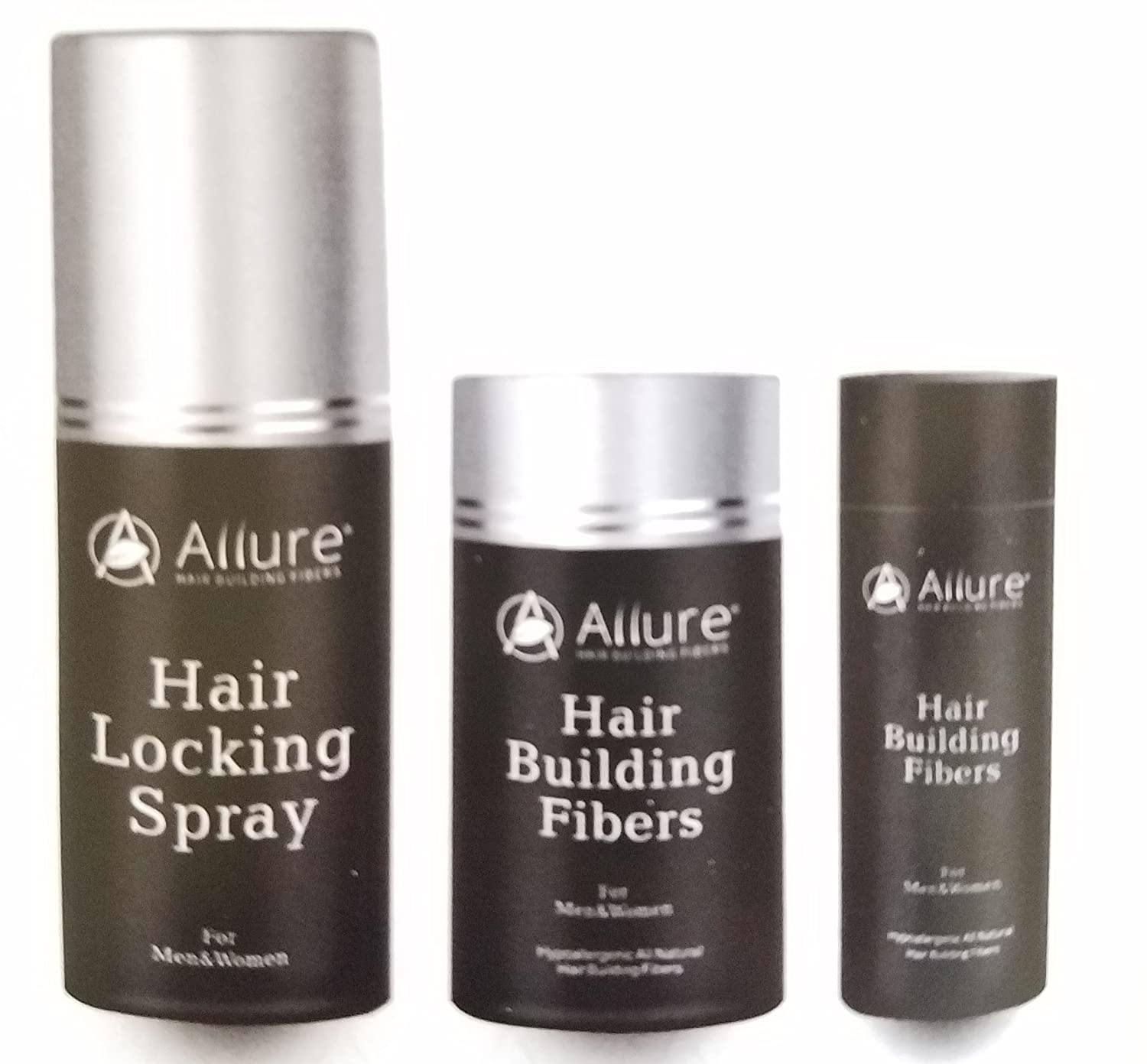 Allure Hair Building Fibers (HBF) (22g) + Allure HBF Spray (100 ml) (Medium Brown)