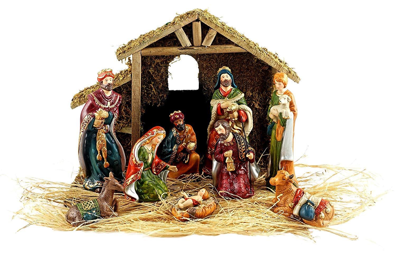 9pc Holiday Nativity Set