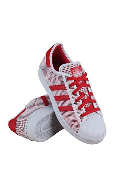 Adidas Adicolor Superstar White Red Rot Weiss FKlTJ1c3