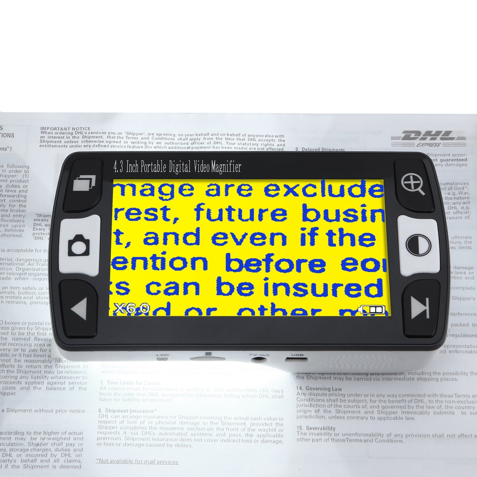"""MeterTo Portable Video Magnifier 4.3"""" 6x-16x Low Vision Aids Digital Video Magnifier 12 Color Modes by MeterTo"""