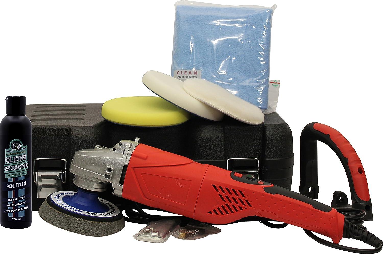 CLEANEXTREME Autopolitur Set CP030-PLUS mit Poliermaschine - zur Auto Politur: Kratzer, Gebrauchsspuren, Vermattungen, Schleifriefen entfernen, Polieren auf Hochglanz