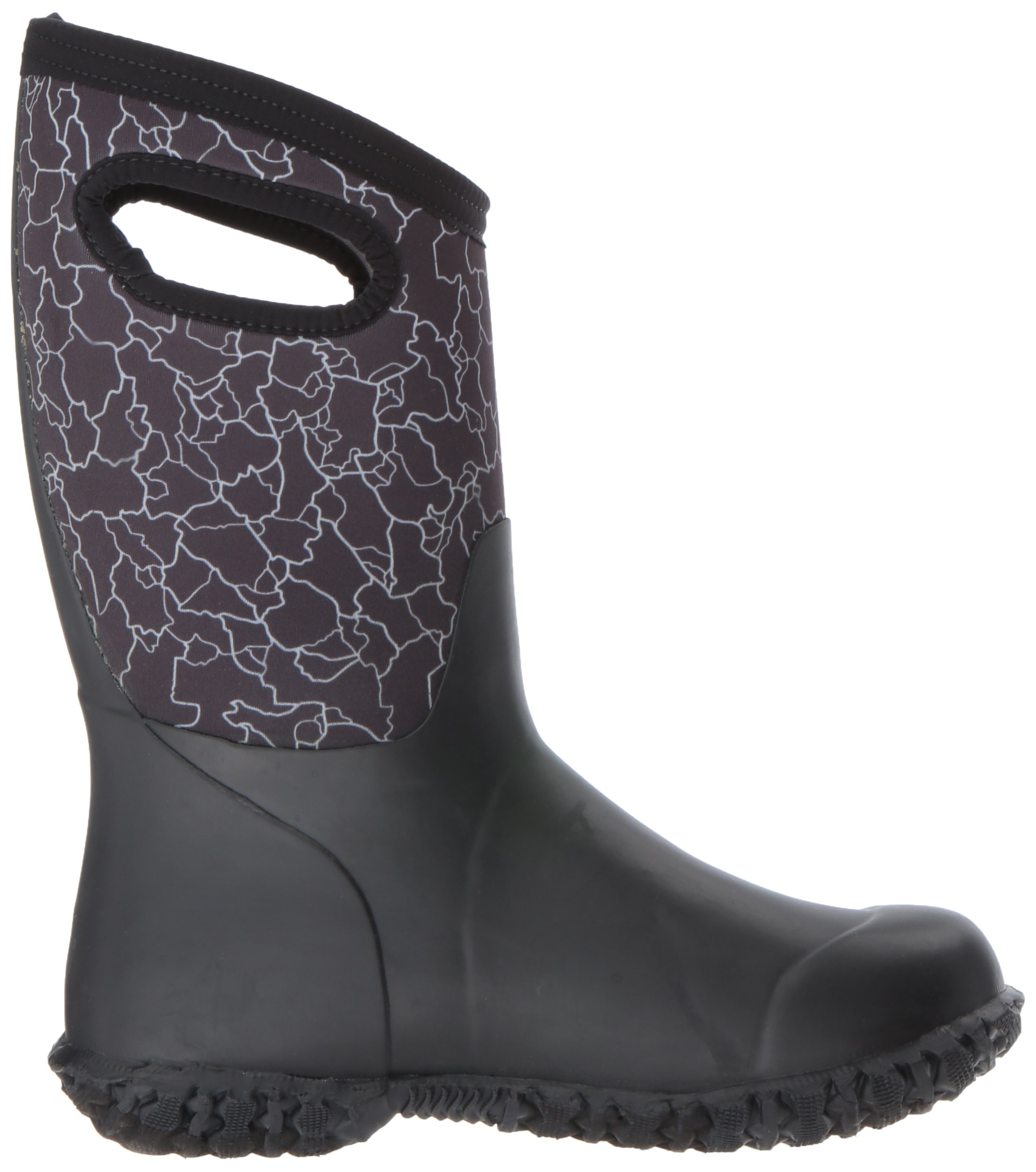 Bogs Durham Kids/Toddler Waterproof Snow Boot for Boys and Girls, Crackle Print/Black/Multi, 12 M US Little Kid by Bogs (Image #7)